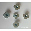 4 Claw Carbon steel Zinc Plating Tee nuts