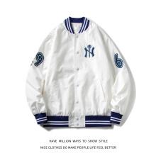 MLBNY Embroid Hot Sale Thin Women's Baseball Uniform Coat Men's Jacket Spring&Autumn Unisex Couple Boyfriend Style Coat