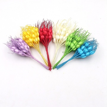 10pcs/lot 12cm Small Foam Wheat Lifelike Bright Color Artificial Flowers For Party Wedding Home Decoration Handmade Spring Craft