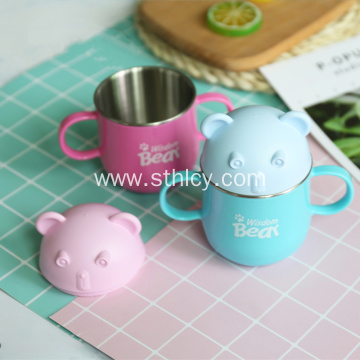 Stainless Steel Insulating Double Ear Handle Cup