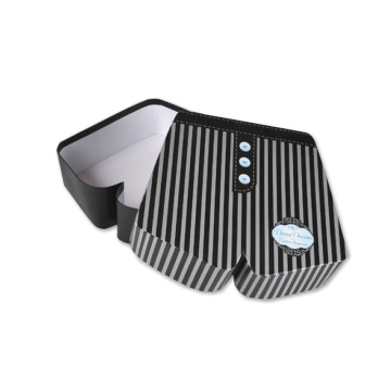 Novel Stripe Printed Paper Box for Underpants T-shirit