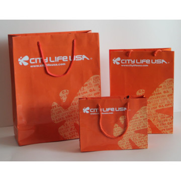 Colorful gift paper bags