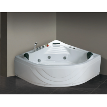 1500mm Sector Corner Whirlpool Bathtub with Two Pillows