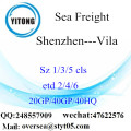 Shenzhen Port Sea Freight Shipping To Vila