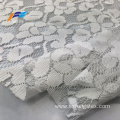 African White Floral Embroidered Mesh Lace Dress Fabric