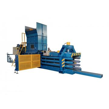 Horizontal hydraulic automatic baler machine
