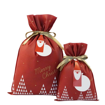 Rose Red Merry Christmas Santa Gift Wrapping Pouches
