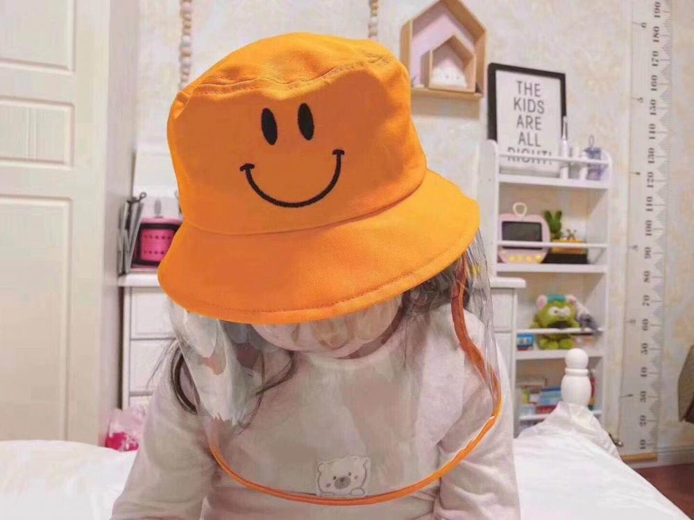 Kids Children Protective Mask Face Shield Mask Hat Bucket Hat Plastic Manufacture