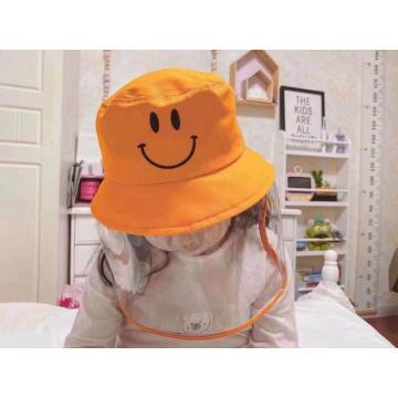Children faceshield masks medical protective bucket hat