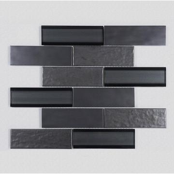 Shower Room Black Glass Mosaic Ceramic Wall Tiles