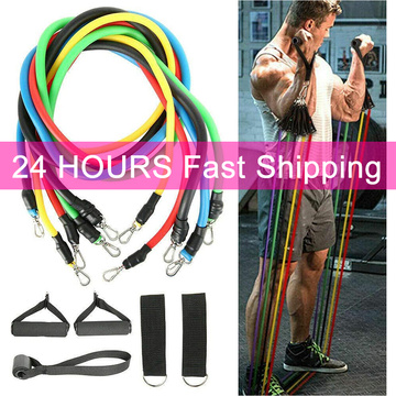 11pcs/set Pull Rope Fitness Exercises Resistance Bands Latex Tubes Body Training Workout band for home gym fitness equipment
