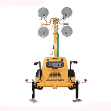 Silent mobile lighting tower with 3kw diesel generator price FZMT-400B