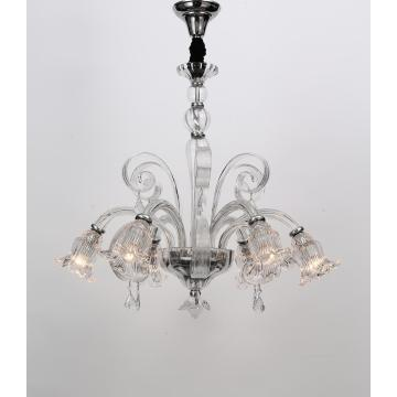 Modern Indoor Design Glass Flower Shade Chandelier