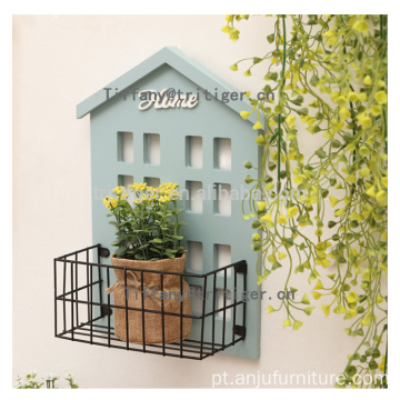Blue pink color wood wall shelf wholesale