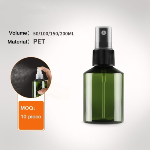 Big volume dark freen PET spray bottle