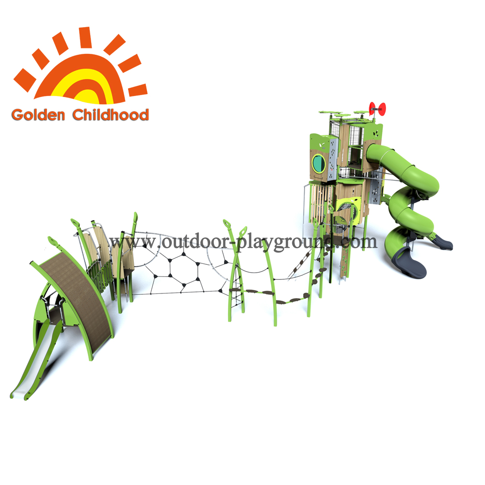 Turbo Tube Tower Outdoor Playground Combination For Children