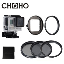 For Go Pro waterproof case Diving Filter protector 52mm Circular Polarizer CPL UV ND4 Dive Filtors For Gopro 4 3+ Accessories