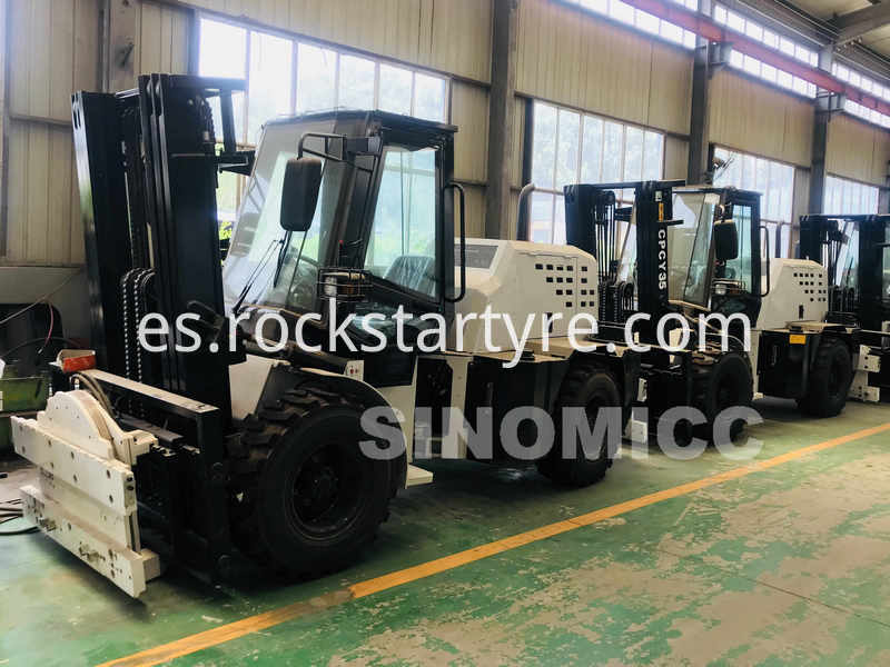 Rough Terrain Forklift Cpcy35 With Rotating Plate