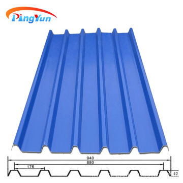 Peru factory tejas waterproof PVC roof tile