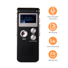 8GB Mini Digital Voice Recorder Voice Activated Recorder Audio Recorder MP3 Player Support Telephone Recording for Meetings