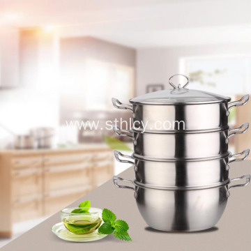 Household Thickened Composite Bottom Steamer Pot