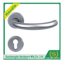 SZD STH-118 Good Price Polished Stainless Steel Lever Door Handles Lever On Square Rose
