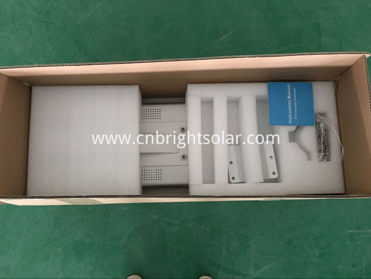 25W integrated solar street light