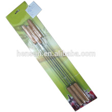Wooden Chrome Plated Non-stick Rotating Skewer