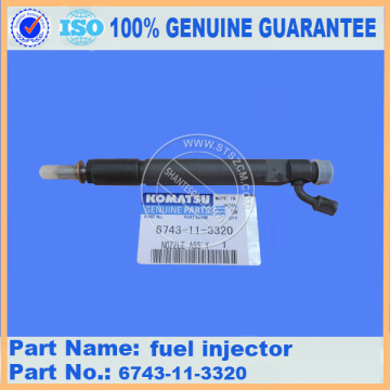 PC300-7 fuel injector 6743-11-3320 komatsu excavator spare parts