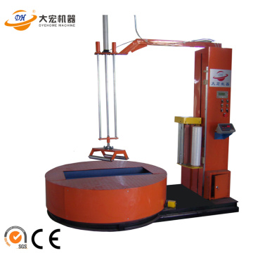 Automatic fabric roll packer machine