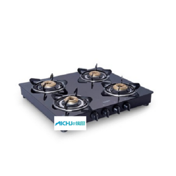 Glen Gas Stove Brass Burner Black Cooker