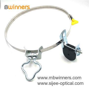 J Hook suspension clamp for ADSS cables