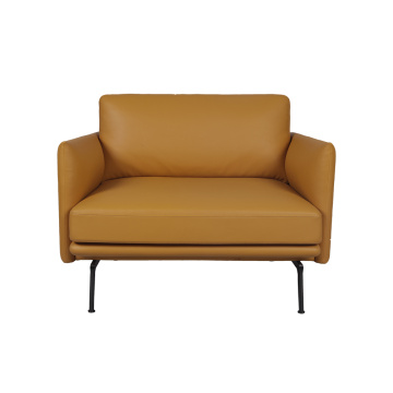 Modern Simple Outline Leather Single Sofa