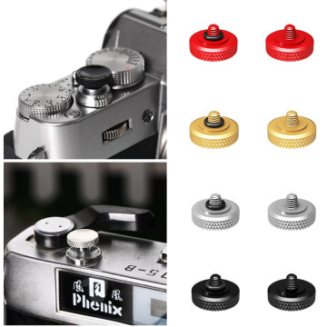 11mm Deluxe Concave Shutter Release Button for Fujifilm X-T30 X-T20 X-T10 X-T2 X-E2s X-E1 X-E2 X-PRO 3 2 1 Olympus PEN-F OM-1