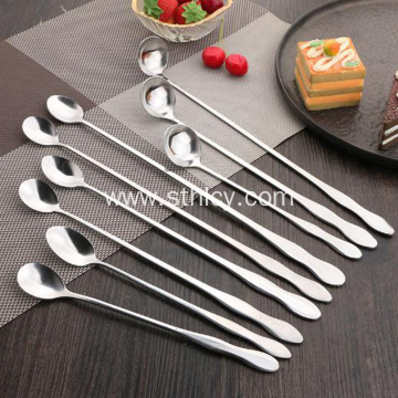 Gourd Long Handle Spoon Thick Stainless Steel