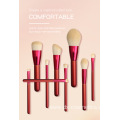 12pcs Red Nylon Hair Wooden Makeup Brush Set