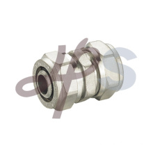 Straight coupling of brass compression fitting