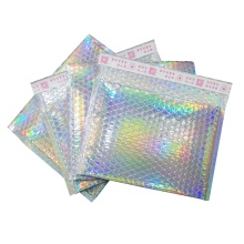 Colorful design of metal holographic bubble mail bag