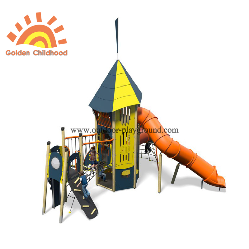 Hpl Mutiplay Outdoor Activity Tower Tube Silde Playground Structure