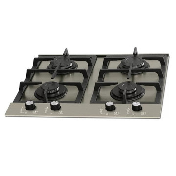 4-Burner Stainless Steel Cooktop Fischer
