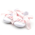 Pink White Cotton Fabric Dress Shoes