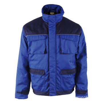 65% polyester 35% cotton Royal blue Winter Jacket
