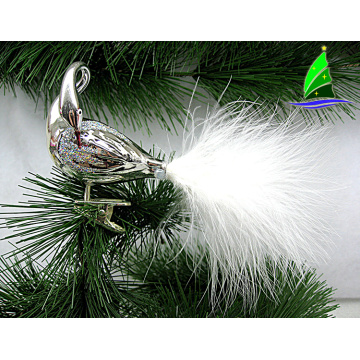 Lovely Decorative Christmas Glass Flamingo Ornaments