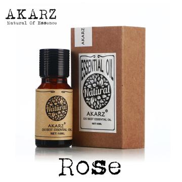 AKARZ Famous brand natural rose essential oil Whitening anti-aging wrinkle relax pigmentation remove beriberi rose oil