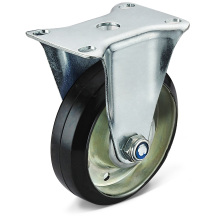 The Black Rubber Flat Bottom Fixed Casters