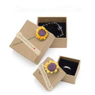 Handmade Kraft Paper Jewelry Packaging Gift Box