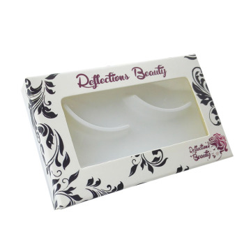 Hot Flower Printing Handsome Eyelash Paper Packaging