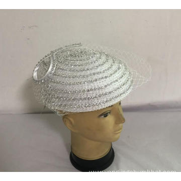 Women's Satin Robbon  Fancy Pill-box  Hats