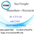 Shenzhen Port Sea Freight Shipping To Szczecin