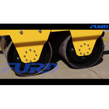 Double Drum Vibratory Road Roller Compactor with Hand Operate